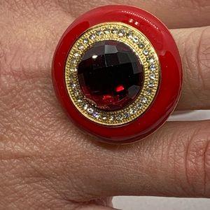 Simulated Red Quartz, Austrian Crystal,